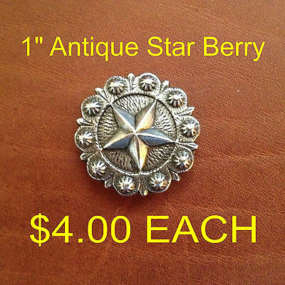 Antique Star Berry Concho 1""