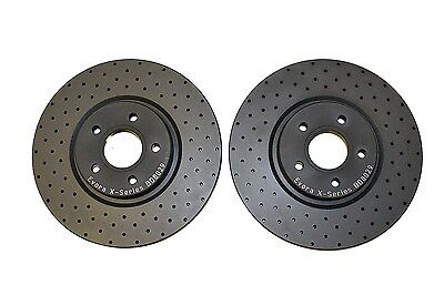 Brake Discs Focus ST250 Front Cross Drilled Ford ST-2 MK3 2012-2016