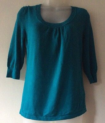 new look maternity teal sweater size 10
