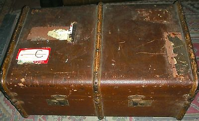 """Vintage Antique Solid Strong Large Cabin Trunk 30"""" x 20"""" x 13"""""""
