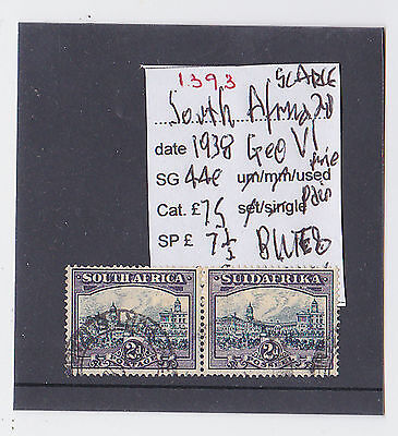 Ref. 1393  South Africa 1938 Geo. Vi Twopence Scarce