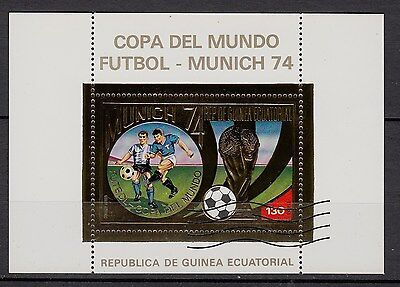 Ga74) Timbre GOLD/Or Neuf**MNH**TBE Republica de guinea ecuatoriale 1974 (FOOT)