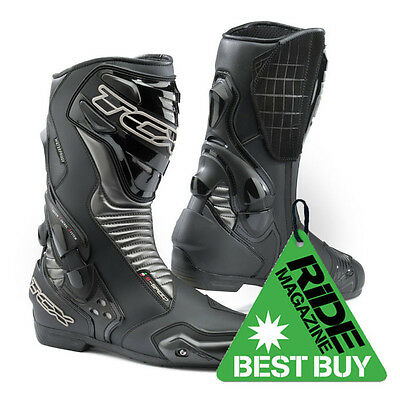 TCX S-Speed Waterproof CE Approved Motorcycle Motorbike Sports Boots - Black