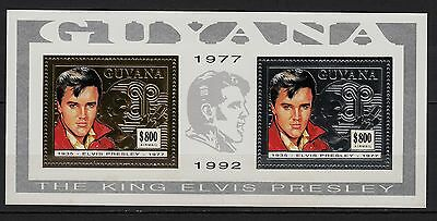 Ga83) Timbre-Stamp GOLD/Or Neuf**MNH**TBE GUYANA 1992 ELVIS PRESLEY