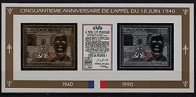 Ga96) Timbre-Stamp GOLD & SILVER **Neuf**MNH**TBE** Bloc DE GAULLE