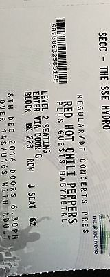 2 x Red Hot Chili Peppers Seating Tickets