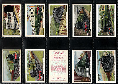 """Gallaher 1937 Interesting ( Railway ) Full 48 Card Set """" Trains Of The World """""""