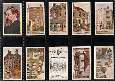 """R.j. Hill 1926 Interesting 50 Card Set """" Historic Places From Dickens Classics """""""