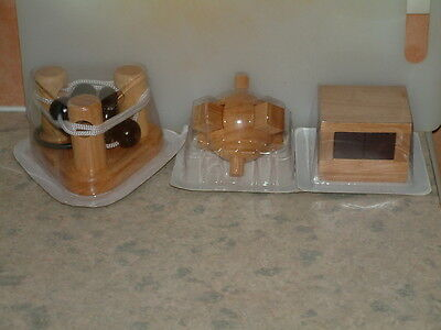 Wooden Puzzles. Set of 3.Adult Stocking Filler.