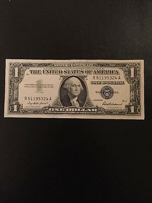 1957 Series Silver Certificate Blue Seal Vintage Piece US Currency $1 Dollar