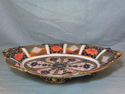 Royal Crown Derby Oval Footed Dish Old Imari Pattern 8706/1128 Acorn Handle