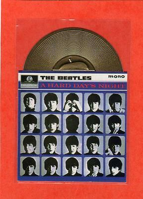 The Beatles US Sports Time 1996 Gold Record Card #3 A Hard Day's Night