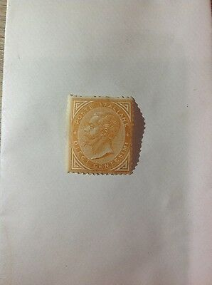 Italie - rare timbre neuf Victor Emmanuelle 10 cent 1863 ocre