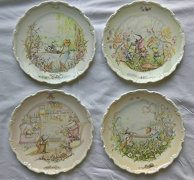 Royal Doulton 'The Wind in the Willows' Decorative Plate Collection (4 Plates)