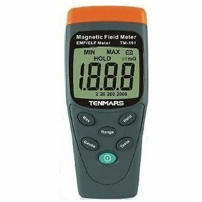 New TENMARS TM-191 Magnetic Field Meter EMF / ELF LCD Display - Free Ship
