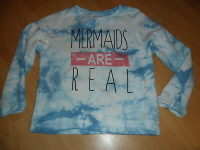 Girls Next Mermaids are real tie dye sweater age 9 ex cond blue