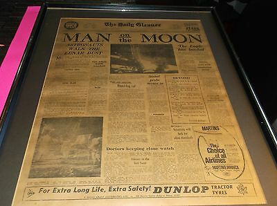 (Rare) Man On The Moon Newspaper (The Daily Gleaner) Kingston Jamaica July 21St