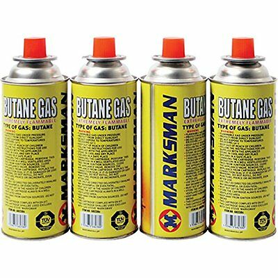 04 X Marksman Butane Gas Canisters Bottle for CampingPortable stoves and heaters