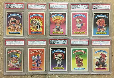 1985 Garbage Pail Kids 1st Series PSA-NM-MT-8 Lot Of 10 Different Cards w/8a TWT