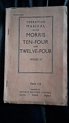 Operations Manual for Morris 10-4 and 12-4 Series 2 1936