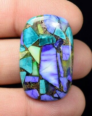 25.15  Cts. Natural  Copper  Colorful  Howlite  Cushion  Cab  Loose  Gems
