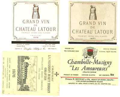 Wine Labels, 1970s and 1980s