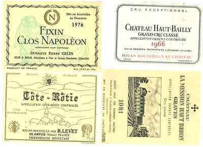 Wine Labels, 1960s, 1970s, and 1980s
