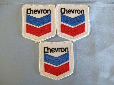 Set of 3 Patches w/ CHEVRON Sign Logo...Gas & Oil..Patch