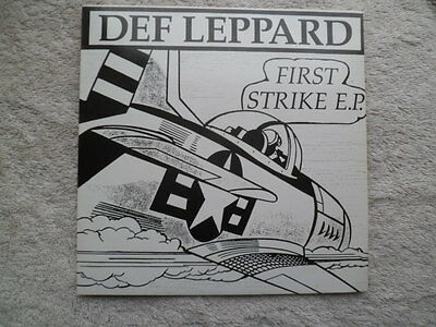 Def Leppard -First Strike Ep Ultra -Rare 7 Inch Single Vinyl Record