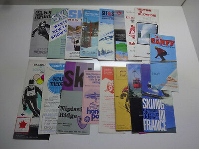 Lot of 17 1960's 70's Ski Brochures Canada US