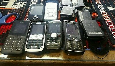 Job lot of phones   and phone batteries  untested
