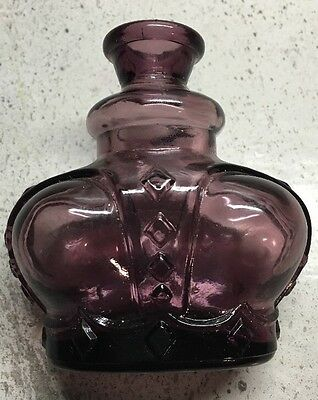 """Antique ITALIAN VICTRYLITE Small Bottle Purple  Glass Made in Italy 3"""""""