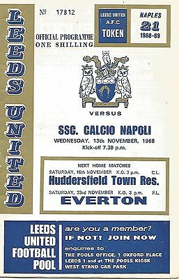Leeds United v Napoli - Fairs Cup - 13/11/1968 - Football Programme
