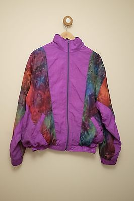 Vintage 80's/90's crazy pattern shell suit jacket