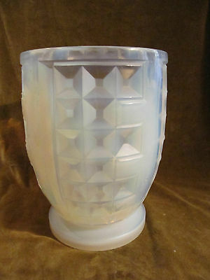 1930's french opalescent art glass large & heavy vase Sabino? h 24,3cm 4,74kg