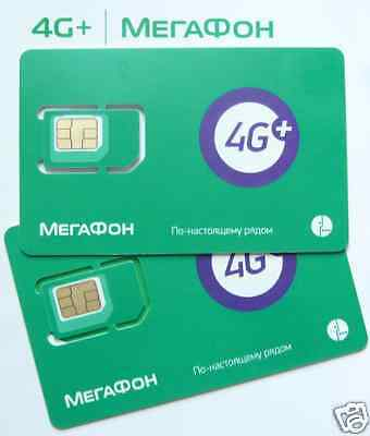 Megafon - Russian Sim Card - Exclusive Unlimited Or Paygo - New!