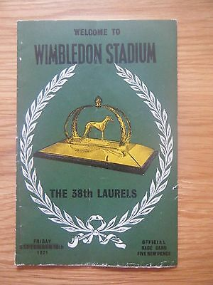 1971 Wimbledon Laurels Final Greyhound Racecard