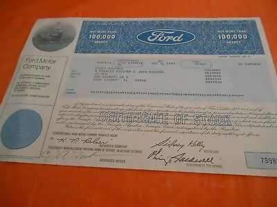 Ford Motor Company......1983 Stock Certificate