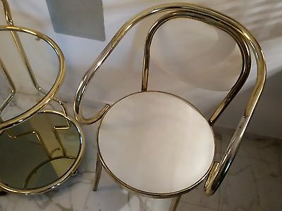 LOVELY Vintage Brass Chair  Thonet Style
