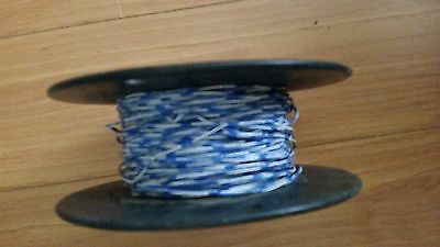 USED 24 AWG 1 Pair Cross Connect Wire approximate 800 feet White/Blue