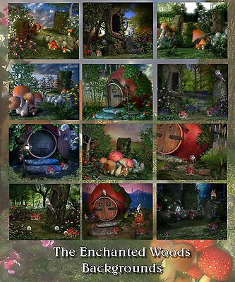 The Enchanted Forest 12 Digital Backdrops