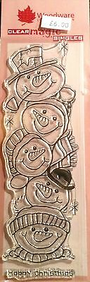 Woodware Clear Magic Snow Buddies stamp FRS330