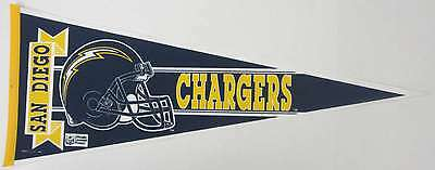 San Diego Chargers NFL Football Pennant - (c) 1990