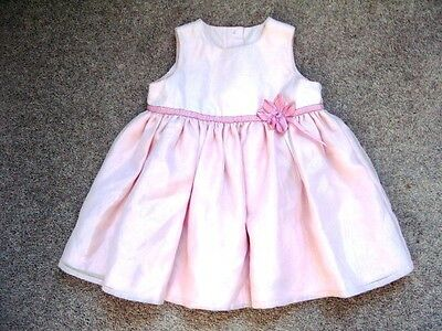 M&S Girls Pink Party Dress.  6-12 Months