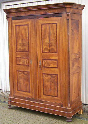 biedermeier schrank in nussbaum massiv eur 985 00 picclick de. Black Bedroom Furniture Sets. Home Design Ideas