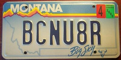 2000 Montana Vanity Personalized License Plate Tag Be Seeing You Later Bcnu8R