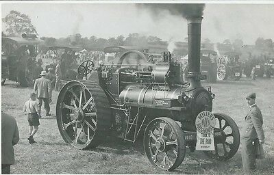 """Traction Engine, Yorkshire,  """"pride Of The Road"""" , J.c. Anderson, Photo Postcard"""