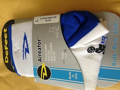 DeFeet Aireator PACK OF 3 Unisex Cycling Socks D-Team BLUE Large