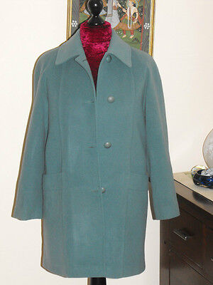 Vintage Ladies Kevella Jade Green Wool and Cashmere Coat size 10