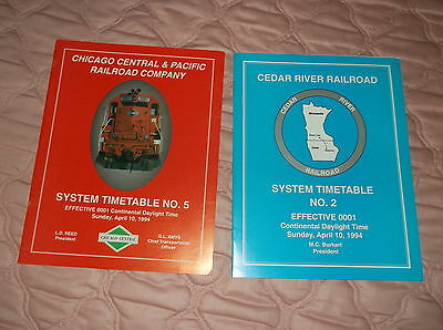 System Set 2 Chicago Central & Pacific/Cedar River Railroad Employee Timetables